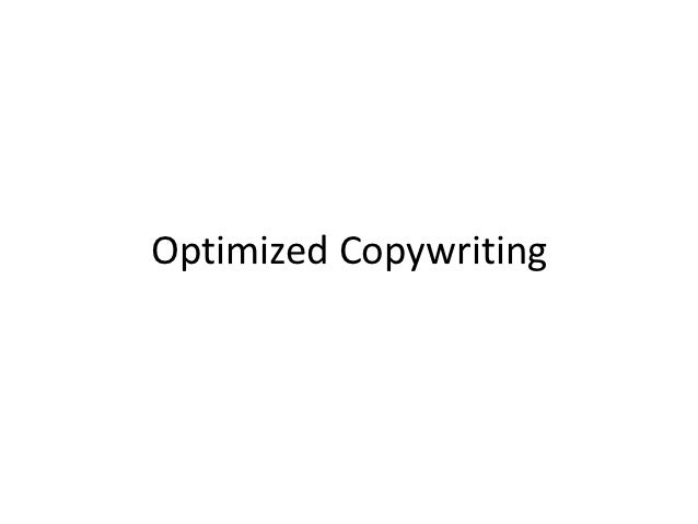 Optimized Copywriting