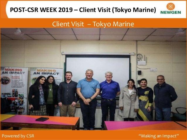 """Client Visit – Tokyo Marine POST-CSR WEEK 2019 – Client Visit (Tokyo Marine) Powered by CSR """"Making an Impact"""""""