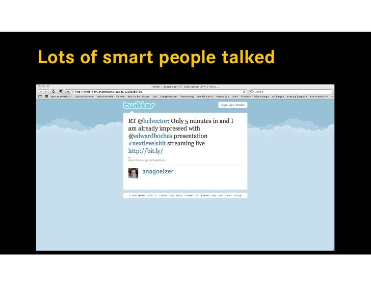 Lots of smart people talked