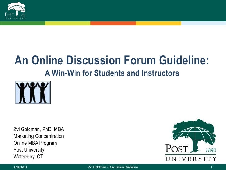 Post University's Online Discussion Forum Guideline