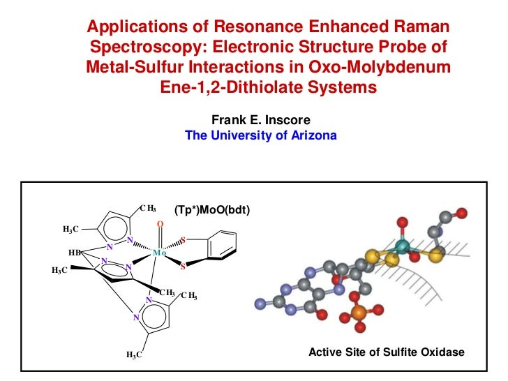Applications of Resonance Enhanced Raman           Spectroscopy: Electronic Structure Probe of           Metal-Sulfur Inte...