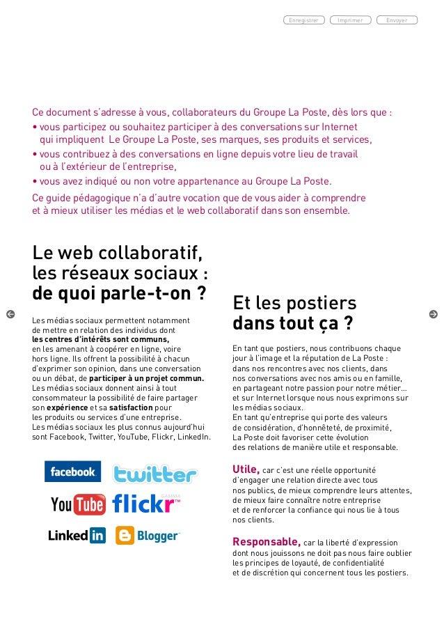 La Poste Charte Medias Sociaux