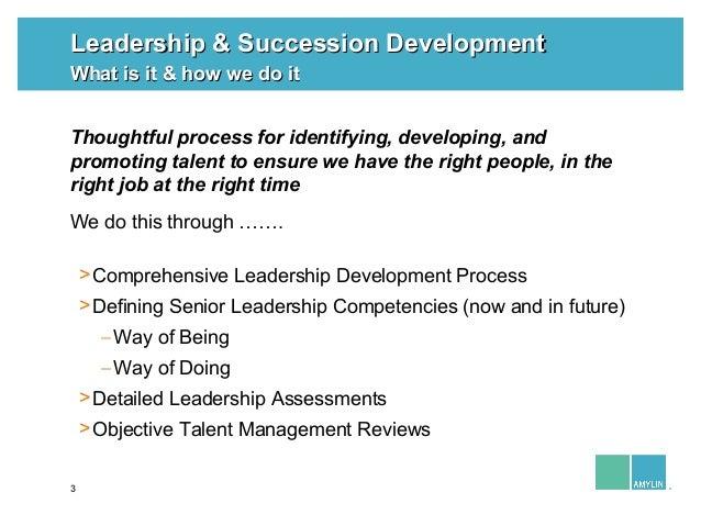 Leland Sandler: Leadership and Succession Development Slide 3