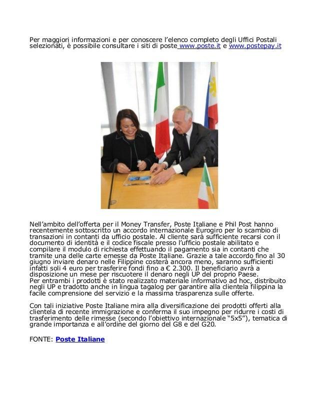 Posta italiana immigrazione for Controllo permesso di soggiorno online poste italiane