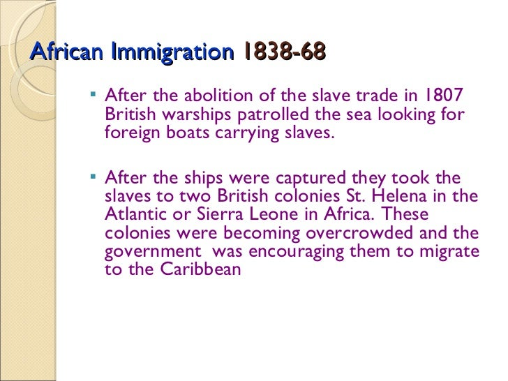 problems of the immigration scheme after emancipation The history of immigration after emancipation the planters in trinidad got the government in london and the local authorities to adopt a scheme.