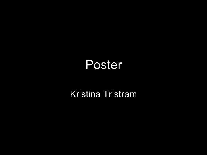 Poster Kristina Tristram