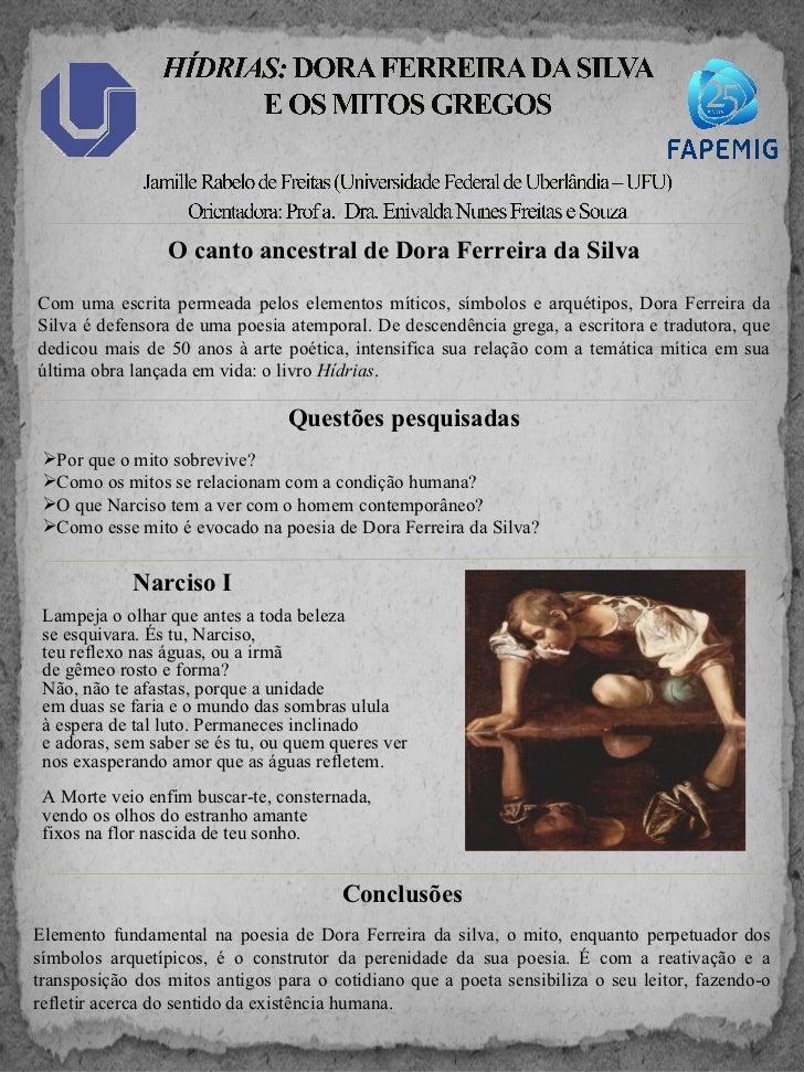 O canto ancestral de Dora Ferreira da SilvaCom uma escrita permeada pelos elementos míticos, símbolos e arquétipos, Dora F...