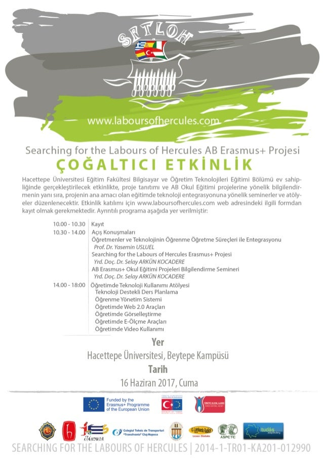 Poster of the multiplier event at Hacettepe University