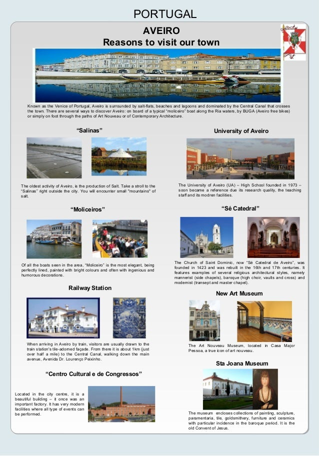 "AVEIROReasons to visit our townPORTUGAL""Salinas""The oldest activity of Aveiro, is the production of Salt. Take a stroll to..."