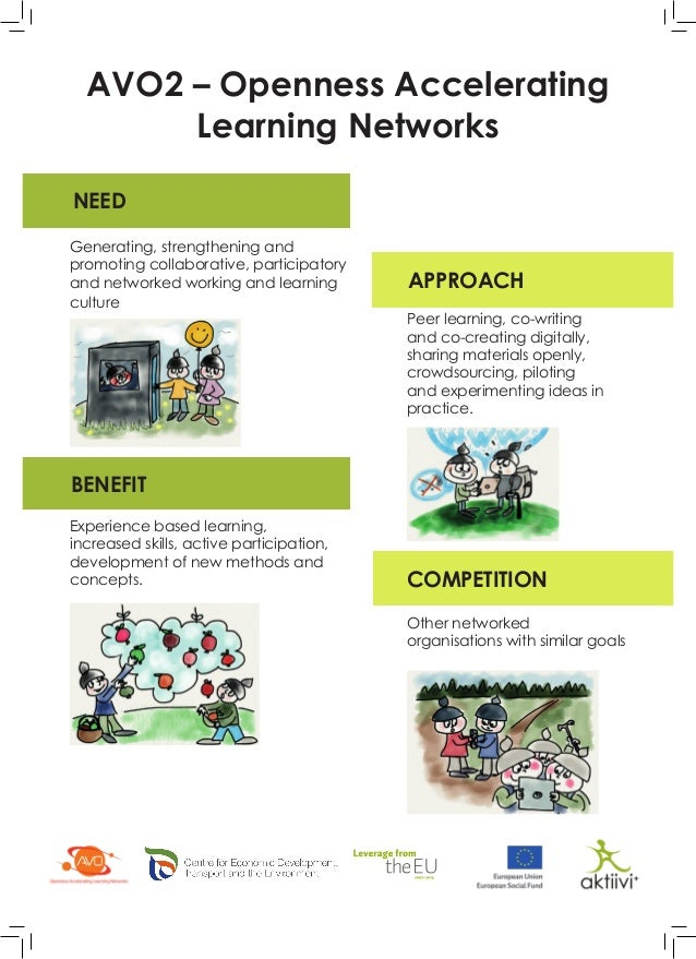 NEED APPROACH BENEFIT COMPETITION AVO2 – Openness Accelerating Learning Networks Generating, strengthening and promoting c...