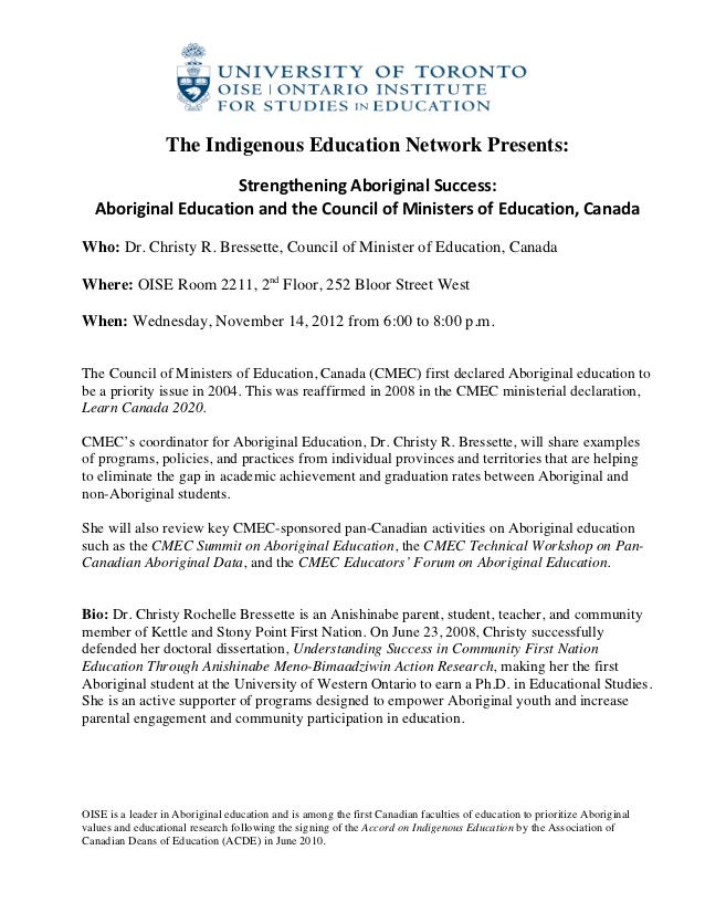 The Indigenous Education Network Presents:                                                           ...