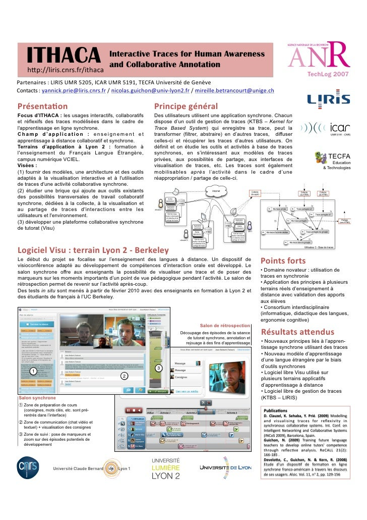 ITHACA      hQp://liris.cnrs.fr/ithaca	                                                 Interactive Traces for Human Aware...