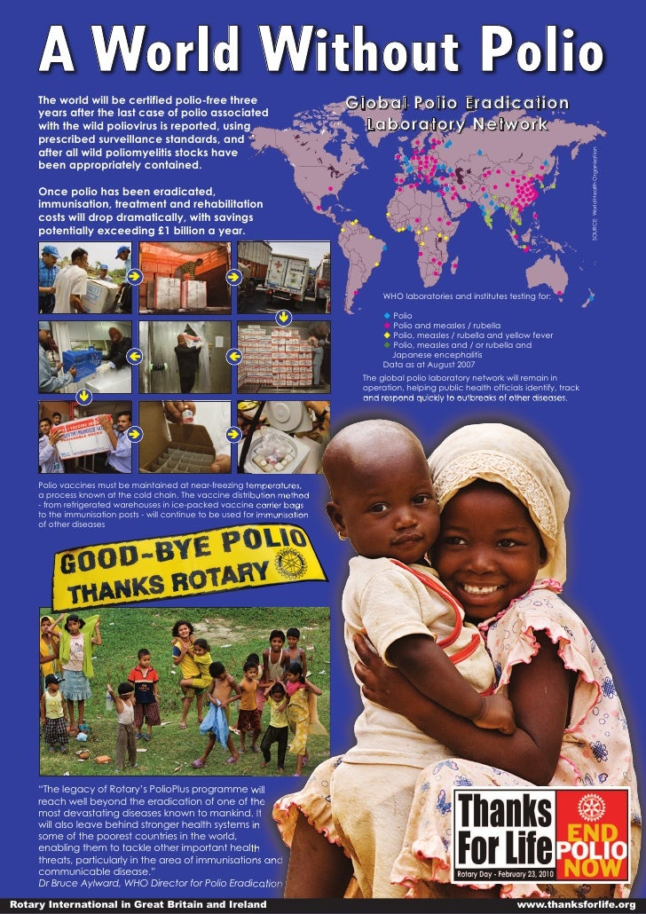 A World Without Polio      The world will be certified polio-free three                            Global Polio Eradicatio...