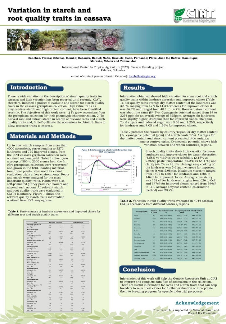 Poster14: Variation in starch and root quality traits in cassava