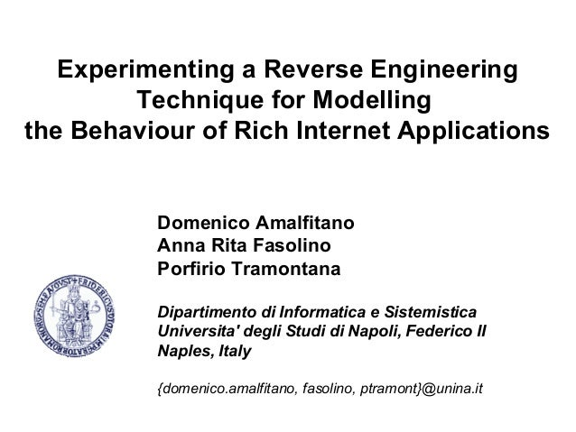 Experimenting a Reverse Engineering         Technique for Modellingthe Behaviour of Rich Internet Applications          Do...