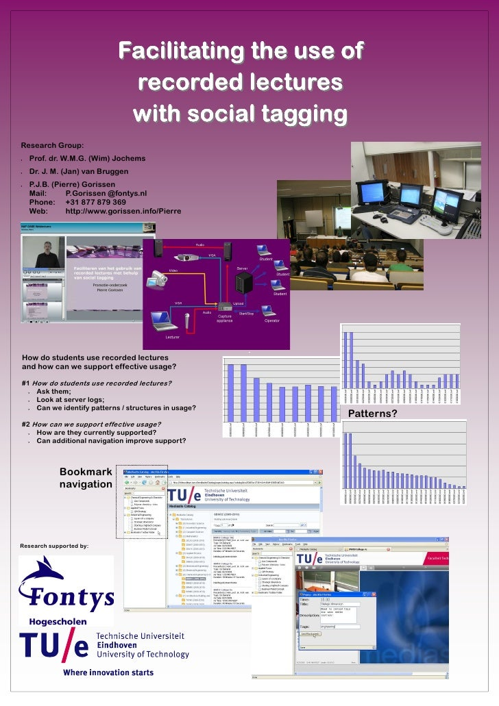 Facilitating the use of                              recorded lectures                              with social tagging Re...