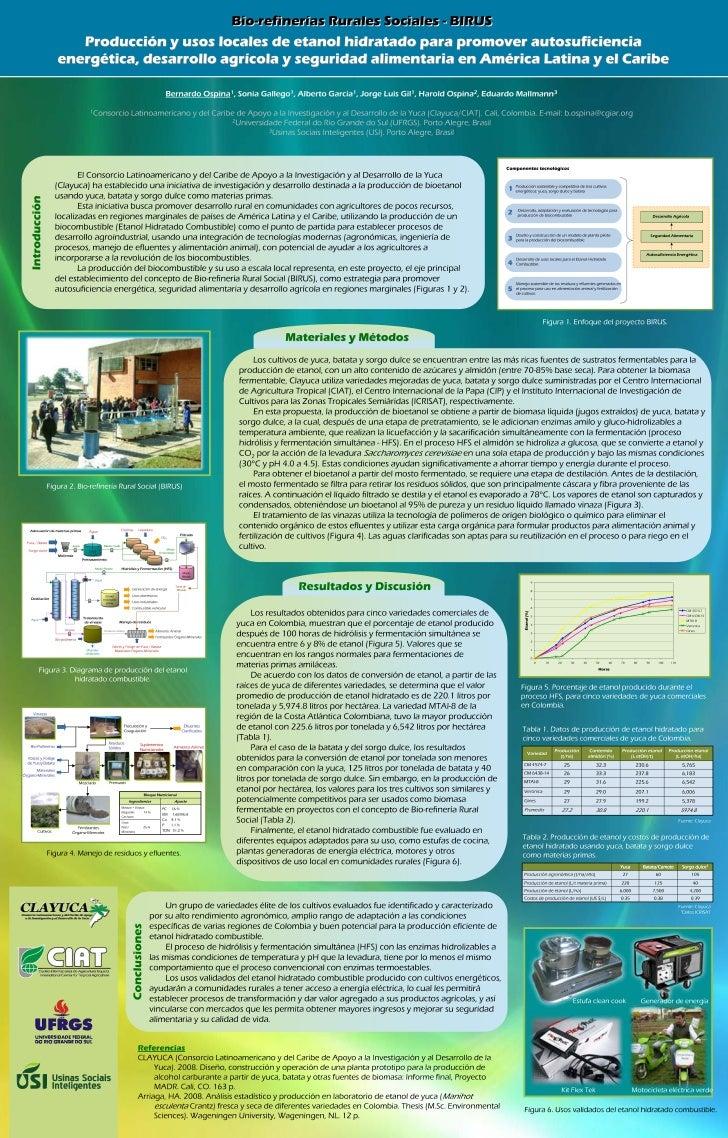 Poster36: Producción y usos locales de etanol hidratado para promover autosuficiencia energética, desarrollo agrícola y se...