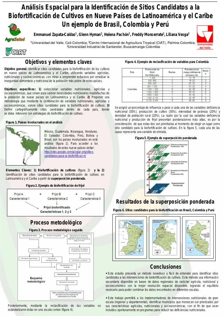 Análisis Espacial para la Identificación de Sitios Candidatos a la    Biofortificación de Cultivos en Nueve Países de Lati...