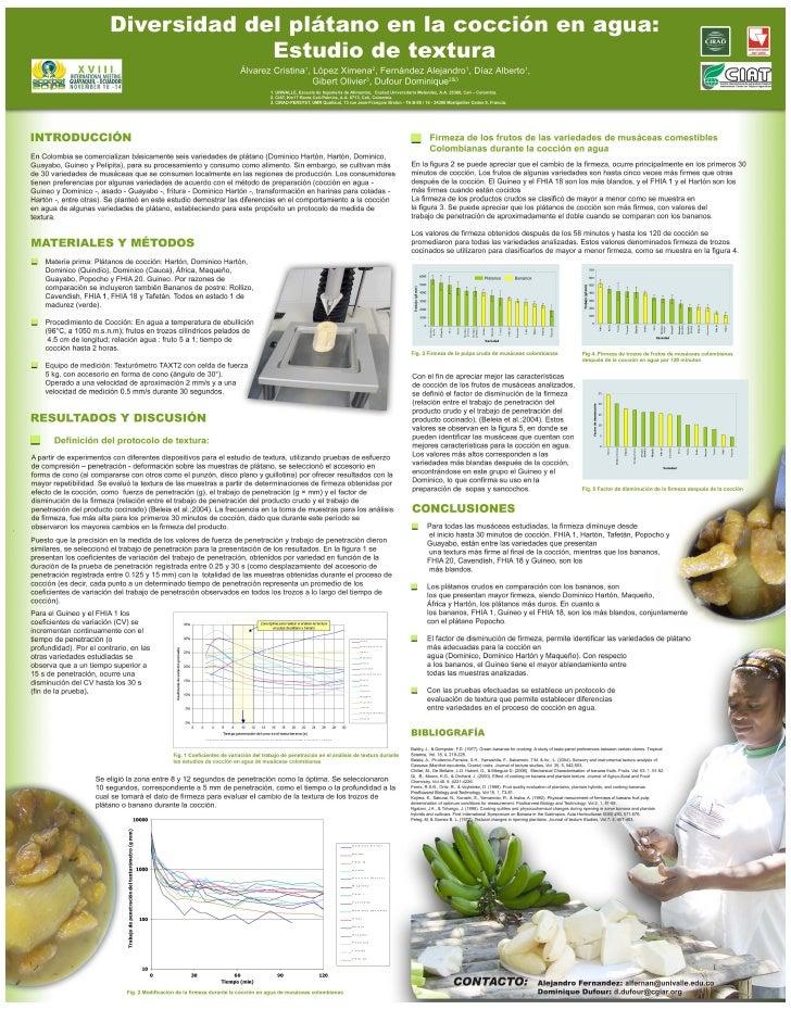 Poster5: Divesidad del plátano en la cocción en agua: Estudio de textura