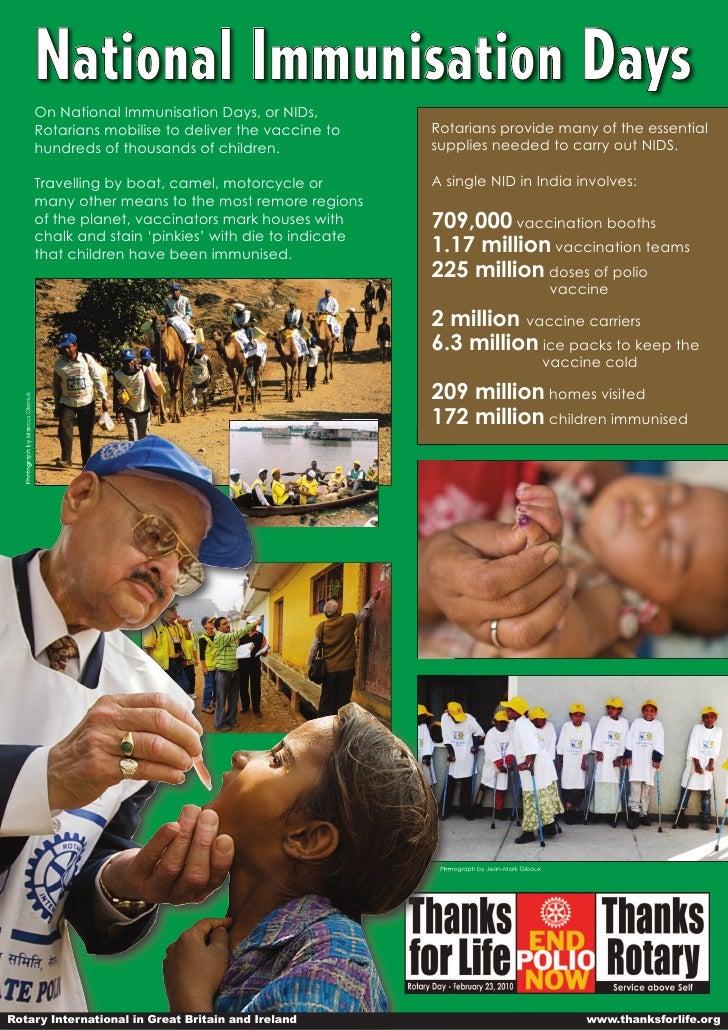 Nationa l Immuni sa ti on D ays                                 On National Immunisation Days, or NIDs,                   ...