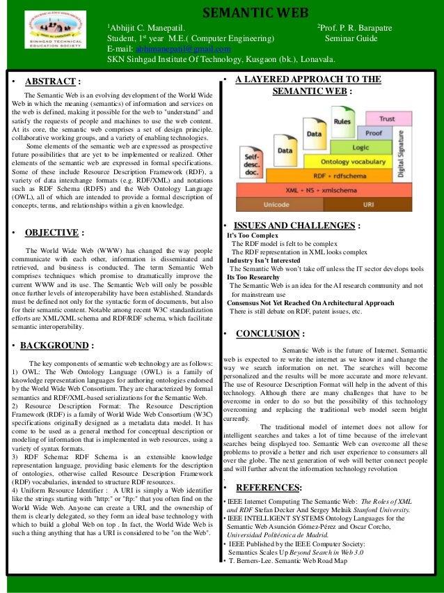 SEMANTIC WEB                                    1AbhijitC. Manepatil.                                   2Prof. P. R. Barap...