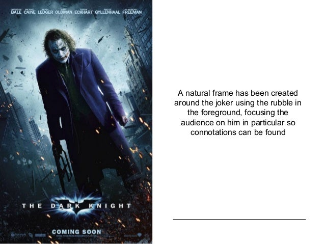 the dark knight movie poster analysis