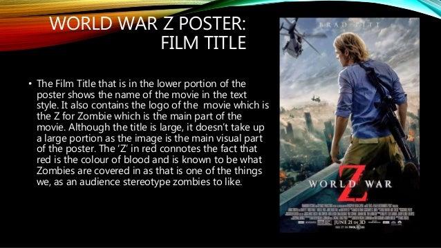 Poster analysis world war z