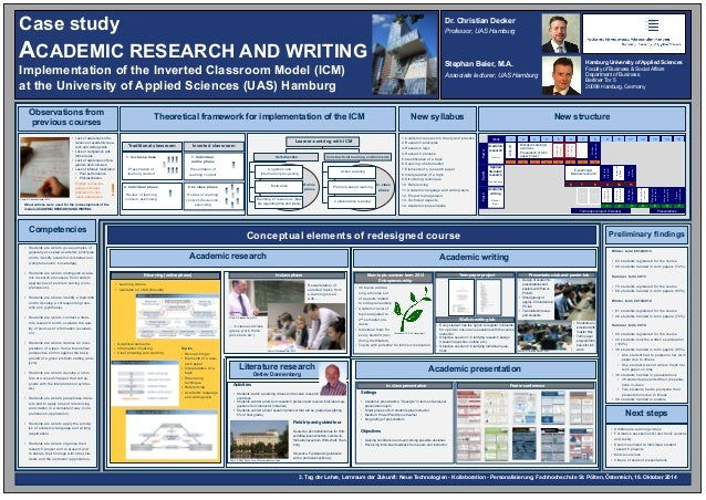 Case study  ACADEMIC RESEARCH AND WRITING  Implementation of the Inverted Classroom Model (ICM)  at the University of Appl...