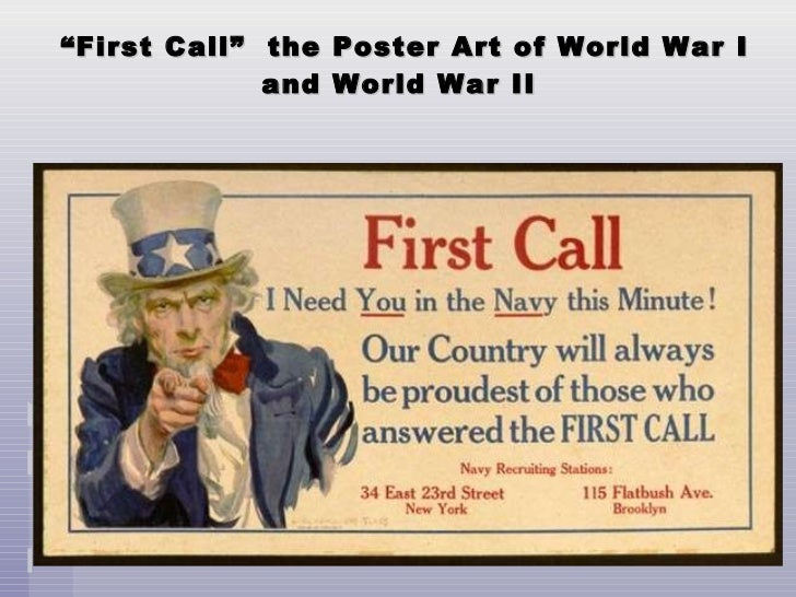 """ First Call""  the Poster Art of World War I and World War II"