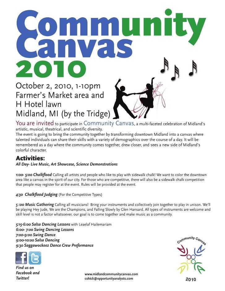 Community Canvas Schedule (White