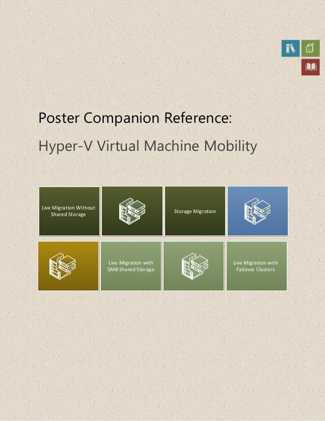 Poster Companion Reference:Hyper-V Virtual Machine MobilityLive Migration WithoutShared StorageLive Migration withSMB Shar...