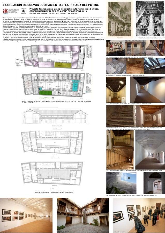 LA CREACIÓN DE NUEVOS EQUIPAMIENTOS: LA POSADA DEL POTRO.Proyecto de adaptación a Centro Municipal de Arte Flamenco de Cór...