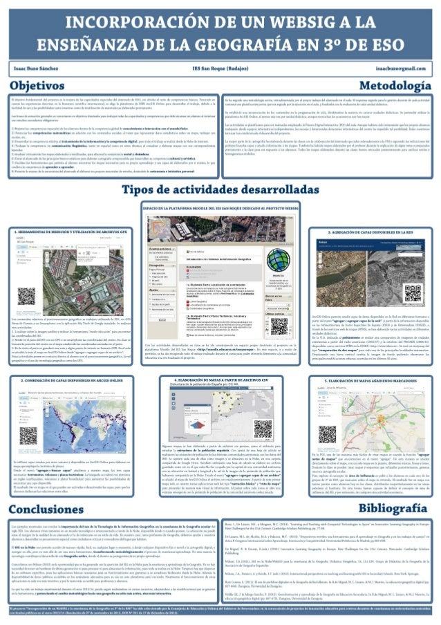 Proyecto: Incorporación de un WebSIG a la enseñanza de la Geografía en 3º de ESO