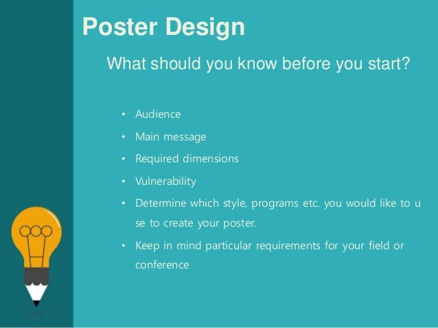How To Design A Poster Presentation