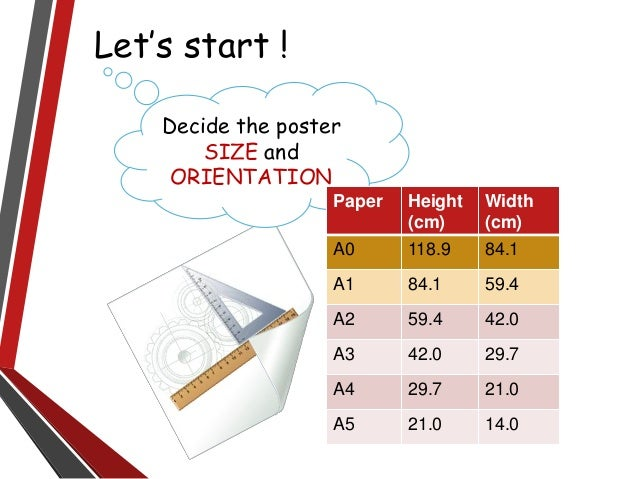 Using powerpoint to design academic poster novice intermediate experts 4 lets start decide the poster size toneelgroepblik Choice Image