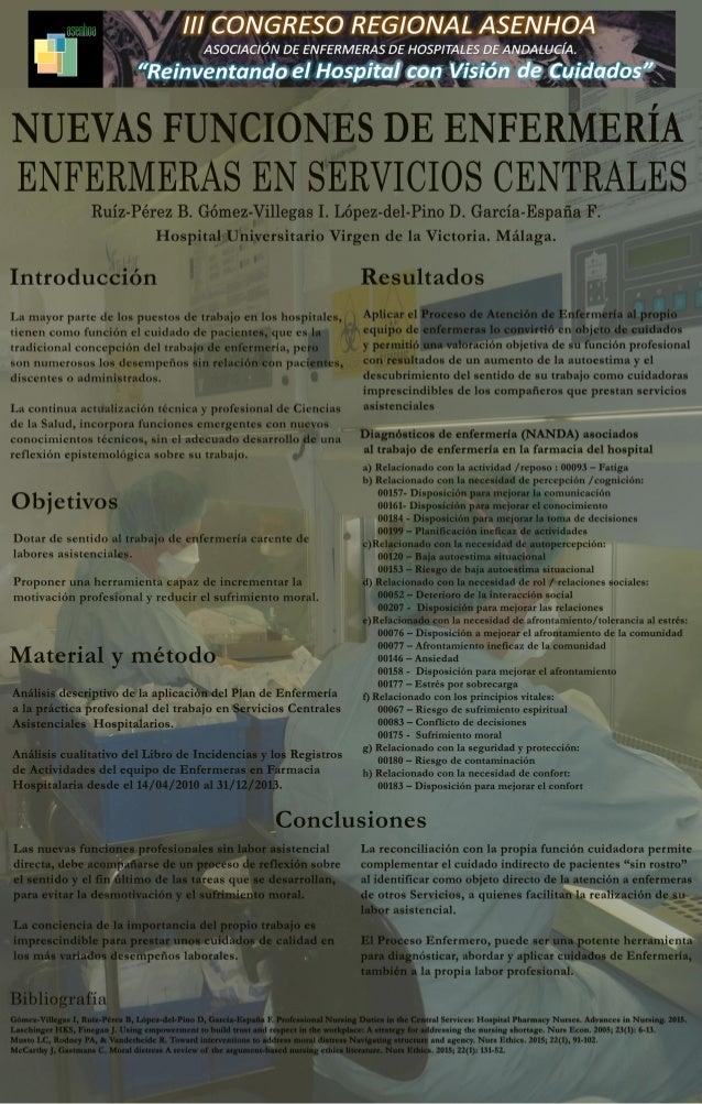 Nuevas funciones de Enfermería sin labor asistencial