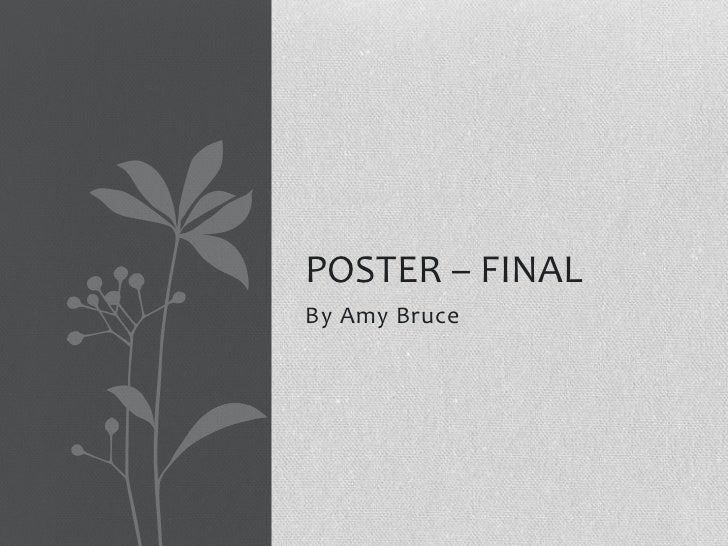 POSTER – FINALBy Amy Bruce