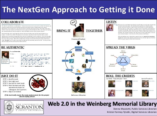 Invitation Title The NextGen Approach to Getting it Done Web 2.0 in the Weinberg Memorial Library Donna Mazziotti, Public ...