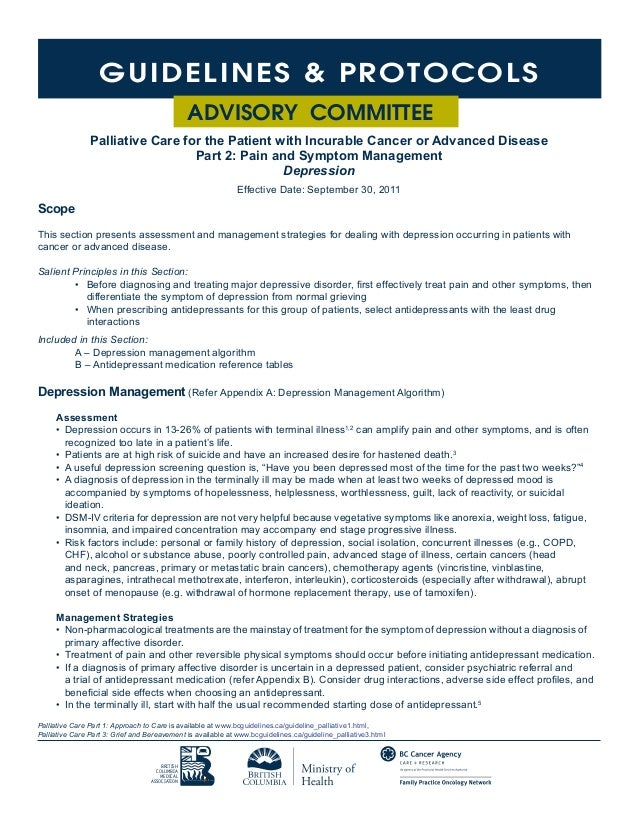 poster for essay british columbia medical association 36 guidelines protocols advisory committee palliative care