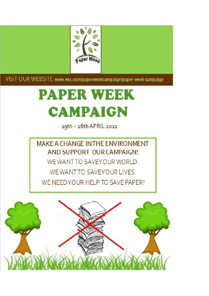 Poster for Paper Week Campaign