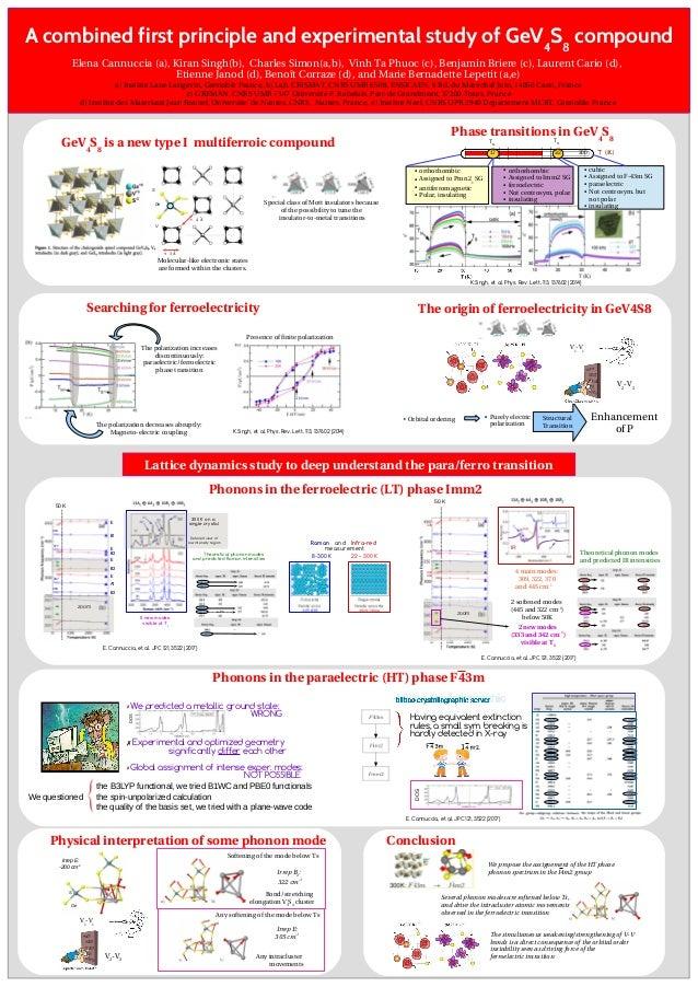 Conclusion Ge S < 3 ˚A ≈ 4 ˚A V ElenaCannuccia(a),KiranSingh(b),CharlesSimon(a,b),VinhTaPhuoc(c),BenjaminBri...