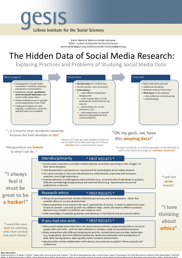 The Hidden Data of Social Media Research:  Exploring Practices and Problems of Studying Social Media Data  Work in progres...