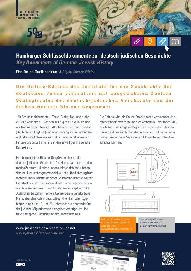 Eine Online-Quellenedition A Digital Source Edition www.juedische-geschichte-online.net www.jewish-history-online.net Hamb...