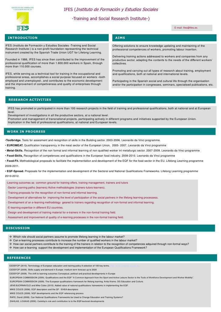 IFES (Instituto de Formación y Estudios Sociales                                                                   -Traini...