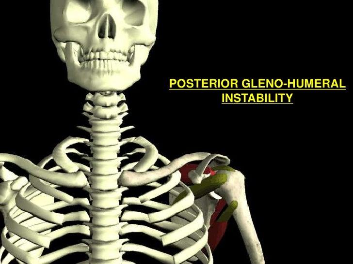 POSTERIOR GLENO-HUMERAL INSTABILITY<br />