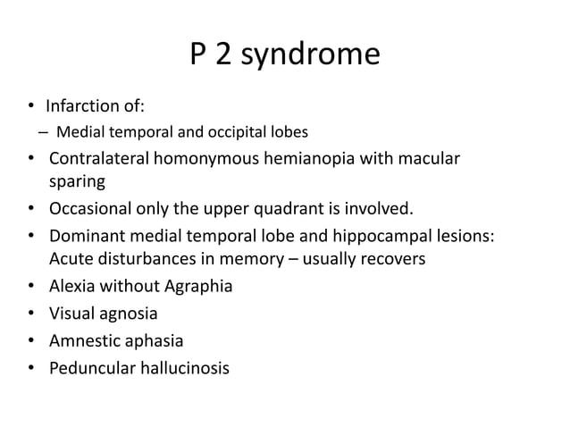 • Severe ipsilateral cerebellar ataxia • Nausea & vomitings • Dysarthria • Contralateral loss of pain & temperature over e...