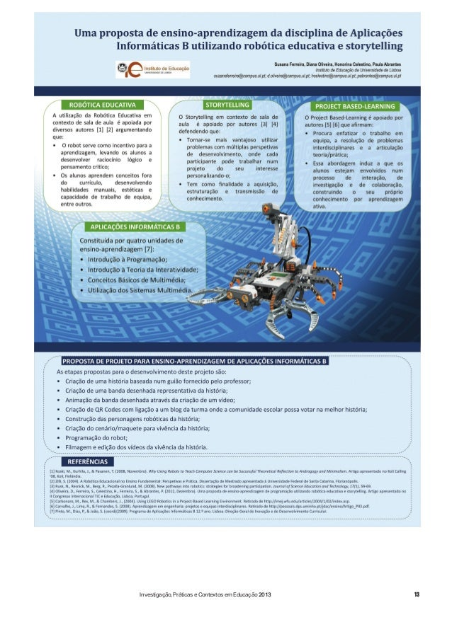 13Investigação, Práticas e Contextos em Educação 2013
