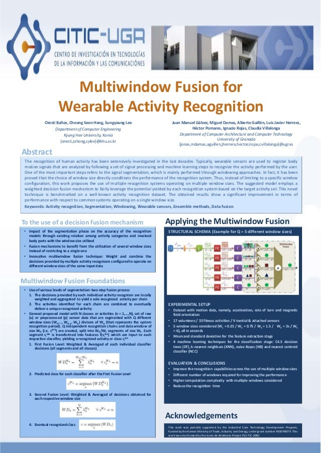 Multiwindow Fusion for Wearable Activity Recognition Oresti Baños, Choong Seon Hong, Sungyoung Lee Department of Computer ...