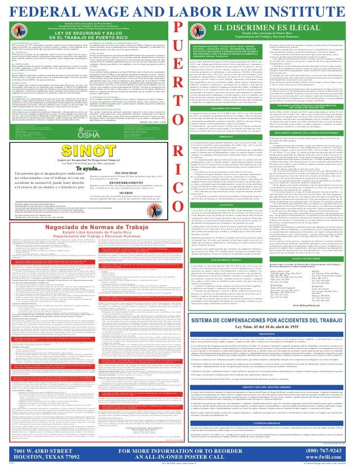 FEDERAL WAGE AND LABOR LAW INSTITUTE                                                                    Estado Libre Asoci...