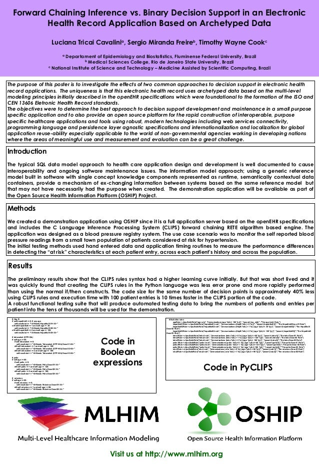 Forward Chaining Inference vs. Binary Decision Support in an Electronic          Health Record Application Based on Archet...